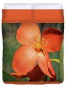 Orange Flower 1 Duvet Cover