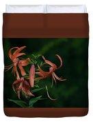Orange Flower Duvet Cover