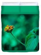Orange Flower IIi Duvet Cover