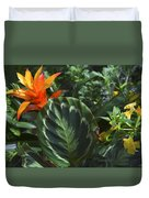 Orange Flower Longwood Gardens Duvet Cover