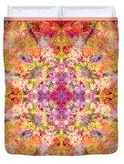 Orange Flower Mandala Duvet Cover