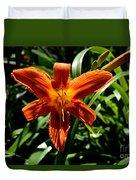 Orange Flower Of Summer Duvet Cover