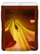 Orange Flower Stamen Duvet Cover