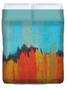 Orange Forest Duvet Cover