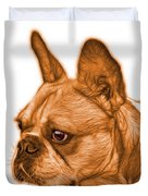 Orange French Bulldog Pop Art - 0755 Wb Duvet Cover