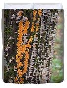Orange Fungus Duvet Cover