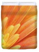 Orange Gerbera Petals Duvet Cover