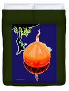 Orange Globe Duvet Cover