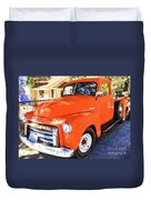 Orange Gmc Pickup Truck In Idyllwild Duvet Cover