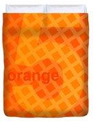Orange God Astante Duvet Cover