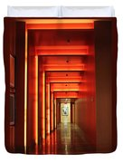 Orange Hallway Duvet Cover