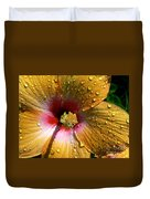 Orange Hibiscus II With Water Droplets Duvet Cover