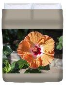 Orange Hibiscus Duvet Cover