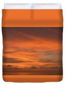 Orange Insanity Sunset Venice Florida Duvet Cover