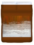 Reflections Of Fall Leaves And Sunlit Ripples On Jamaica Pond Duvet Cover