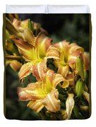 Orange Lilies Portrait Duvet Cover