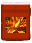 Orange Lily Flower Art Print Summer Lilies Baslee Duvet Cover
