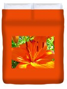 Orange Lily Flower Art Print Summer Lily Garden Baslee Troutman Duvet Cover