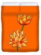 Lotus Flower Tattoo Design Inspired Watercolour Duvet Cover