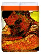 Orange Man Duvet Cover