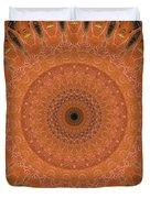 Orange Mandala Duvet Cover