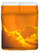 Orange Misty Sky Duvet Cover