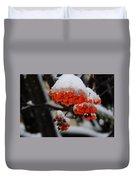 Orange Mountain Ash Berries Duvet Cover