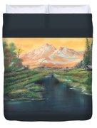 Orange Mountain Duvet Cover