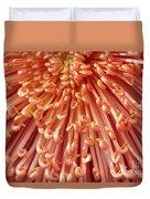 Orange Mum Duvet Cover