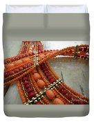 Orange Necklace Duvet Cover