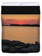 Orange Nite Sky  Duvet Cover
