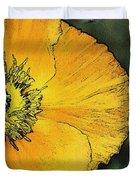 Orange Oriental Poppy Duvet Cover