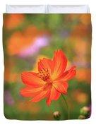 Orange Painted Landscape Duvet Cover