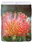 Orange Pincushion Protea Duvet Cover