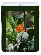 Orange Plants Duvet Cover