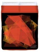 Orange Polygon Pattern Duvet Cover