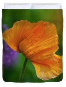 Orange Poppy Flower Duvet Cover