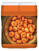 Orange Pumpkins Autumn Background. Duvet Cover