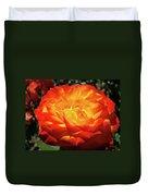 Orange Red Rose Flower Art Prints Giclee Baslee Troutman Duvet Cover