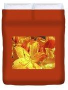 Orange Rhodies Flowers Art Rhododendron Baslee Troutman Duvet Cover