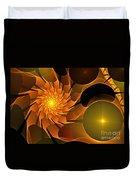Orange Rose Blossom Duvet Cover