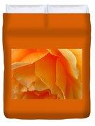 Orange Rose Side View Duvet Cover