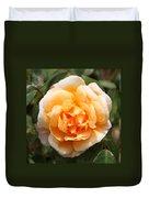 Orange Rose Square Duvet Cover
