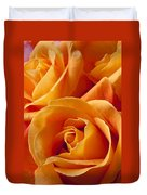 Orange Roses Duvet Cover by Garry Gay