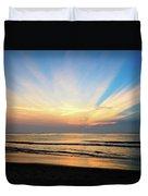 Orange Seas Duvet Cover
