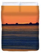 Orange Sky Above The Ice Of Kempenfelt Bay  Duvet Cover