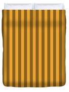 Orange Striped Pattern Design Duvet Cover