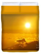 Orange Sunset - Haleakala Duvet Cover
