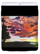Orange Sunset Spectator Duvet Cover