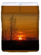 Orange Sunset Through The Trees Duvet Cover
